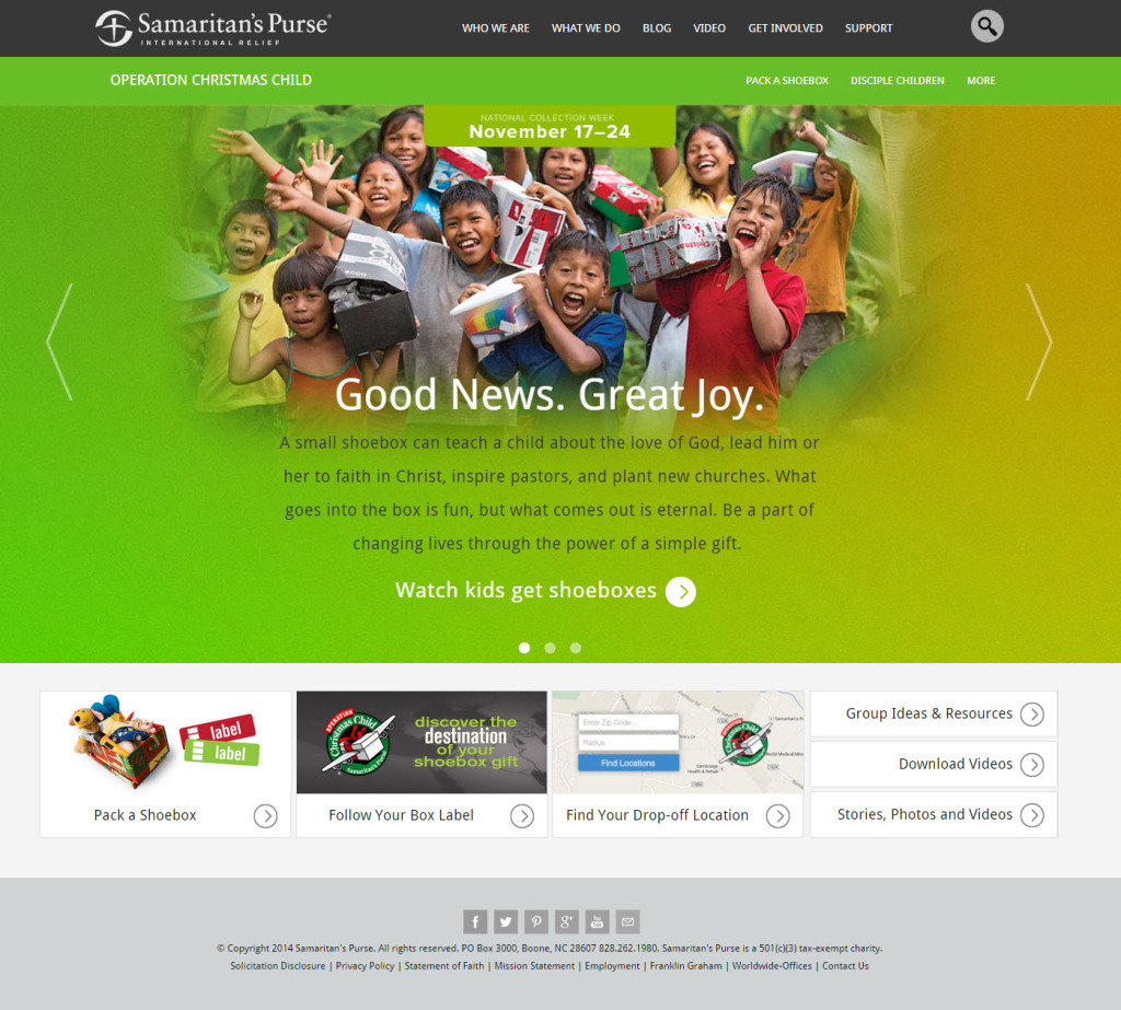 Operation Christmas Child Website